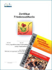 Zertifikat der Friedensstiftung für die Schülerinnen und Schüler der Carlo Schmid Schule Karlsruhe